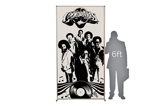 1970s Disco Lit Silhouette 4x8 Commodores large