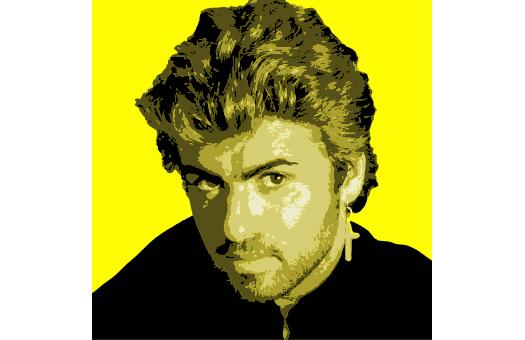 1980s lithograph GeorgeMichael Yellow