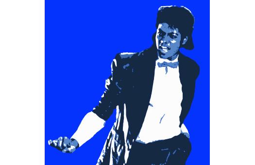 1980s lithograph MJ Blue