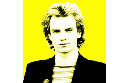 1980s lithograph Sting Yellow