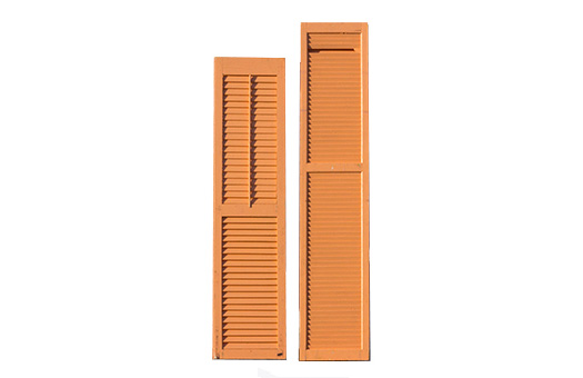 Beach Buffet divider shutter antique orange large