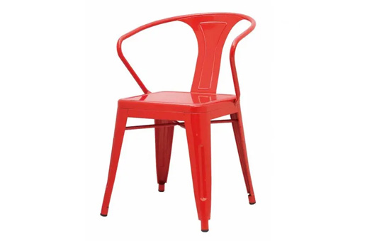 Chairs metro metal arm chair red large