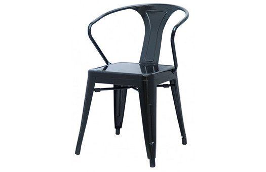 Chairs metro metal arm chair Large