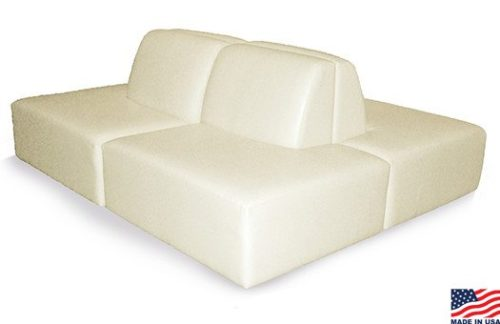White cube sofa modifiable sections for multiple sofa combinations