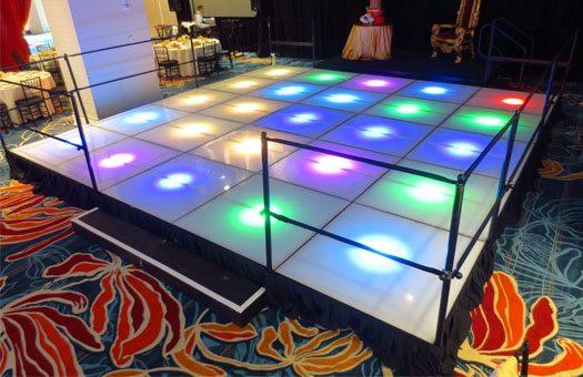 Stage Lit Dance Floor Deck event decor rental DC Large