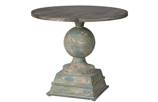 Garden Pedestal Table with circular top and square base