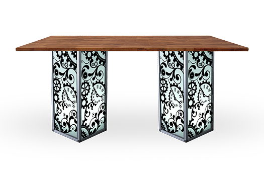 Table communal high steampunk large