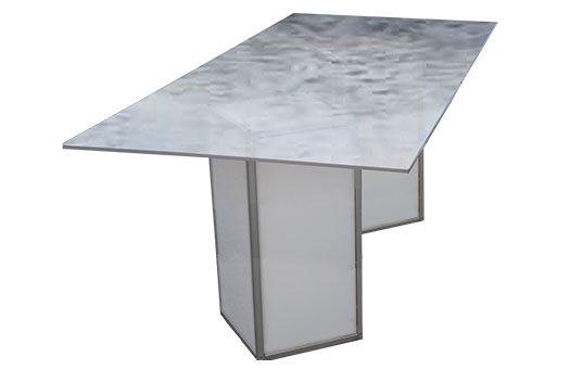 Tables acrylic dinner table high swirl Large