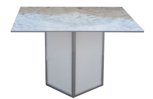 Tables square acrylic low swirl Large