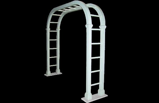 Trellis ladder arch white event decor rentals 101 0082 large