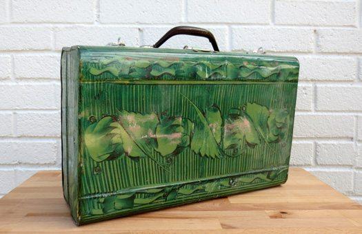 accessories luggage green polynesian tin large