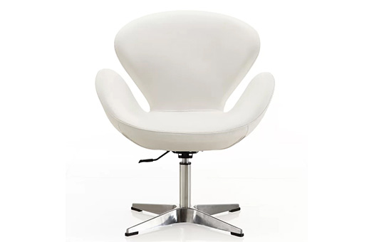 chairs stage swivel white leather large