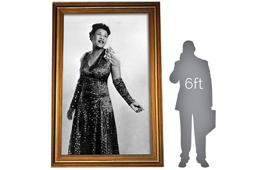 decor by theme gatsby roaring 20s ella fitzgerald black and white in gold frame Gray Man large