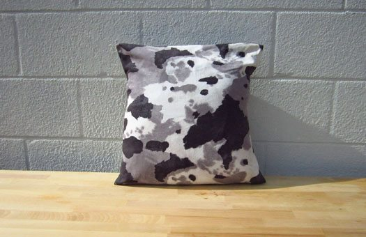 furniture and bars pillows cowhide pillow grey large