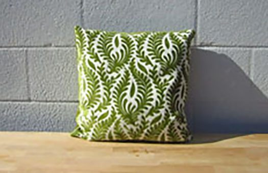 furniture and bars pillows light olive floral pillow large