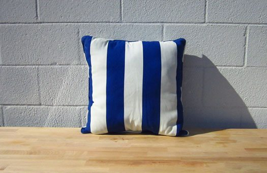 furniture and bars pillows striped pillow blue large