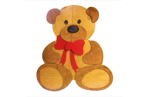 props giant teddy bear wooden large