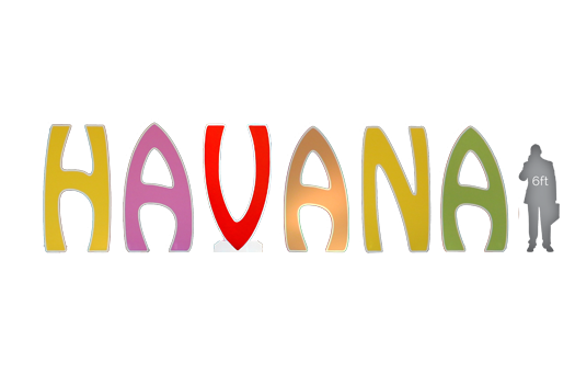 signs havana giant letters 7ft large