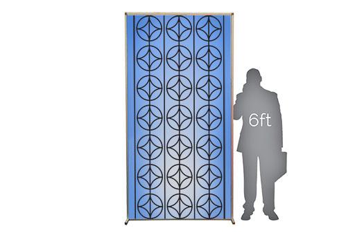 walls lit silhouette mid modern pattern large