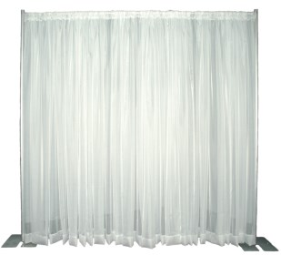 Voile Sheer Pipe And Drape Backdrop